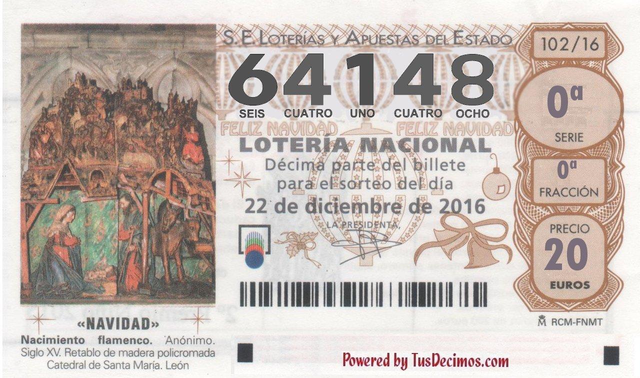 Numero Loteria Amplicole 64148